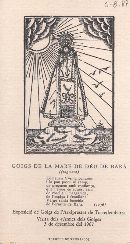 Goigs de la Mare de Déu de Barà (fragment)