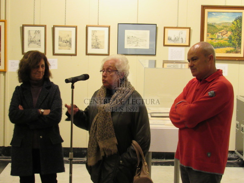 """Inauguració de l'exposició """"Paisatges dibuixats"""". Exposició de dibuixos de muntanya de Maria Teresa Ferré i Colom"""