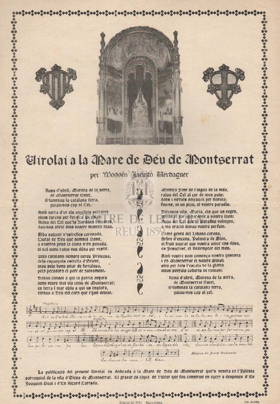 Virolai de la Mare de Deu de Montserrat per Mossen Jacinto Verdaguer