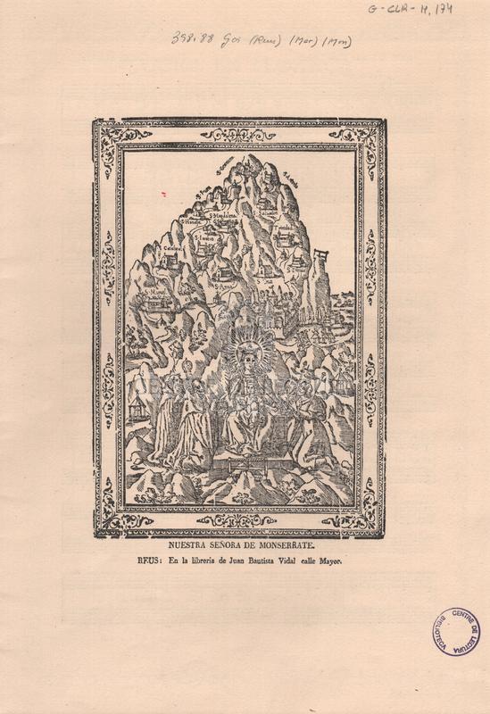 Goigs en lloança de la Mare de Déu de Montserrat.