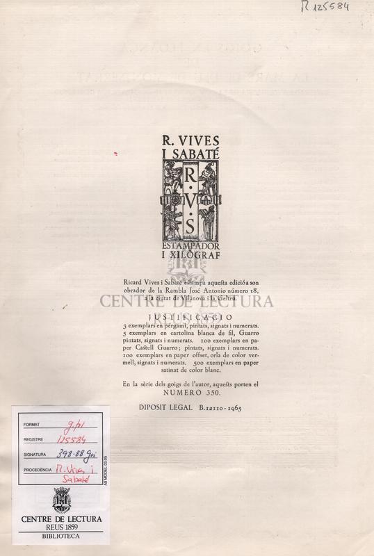 Goigs en lloança de la Mare de Deu de Montserrat venerada a l'esglesia de la Concepcio Real de Calatrava de Madrid (vulgarment les Calatraves).