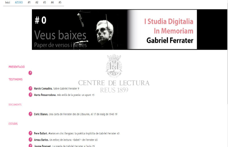 Poetes en cinc llengües: la poètica implícita de Gabriel Ferrater