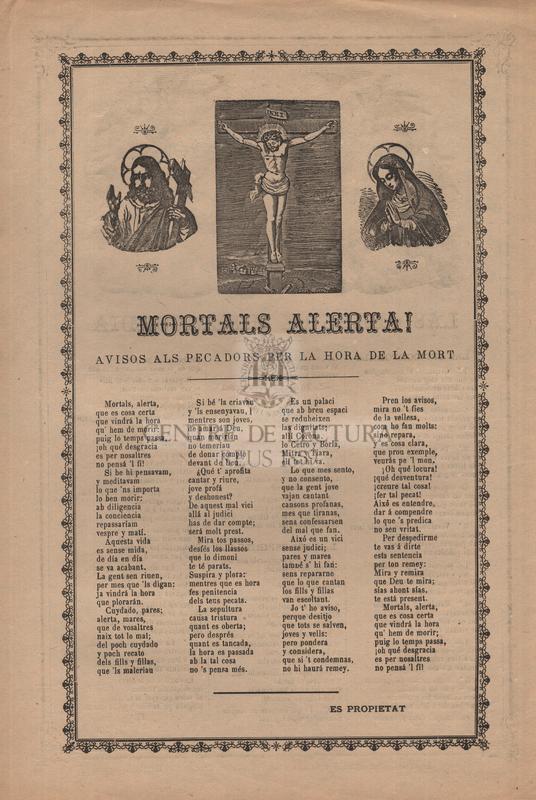 Las obras de Misericordia. Mortals alerta! Avisos als pecadors per la hora de la mort