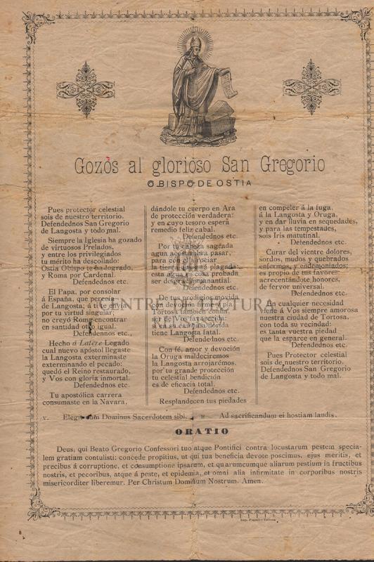 Gozos al glorioso San Gregorio, Obispo de Ostia