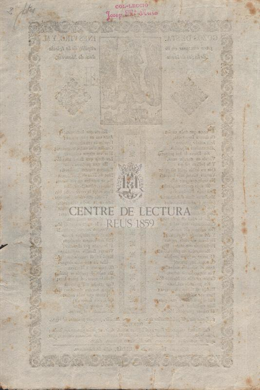 Gozos de Sta. Ines virg. y m. para contarse en su capilla de la Iglesia de la Seo de la ciudad de Manresa