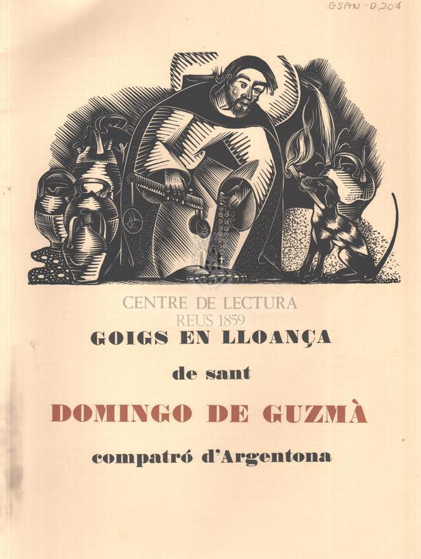 Goigs en lloança de sant Domingo de Guzmà compatró d'Argentona