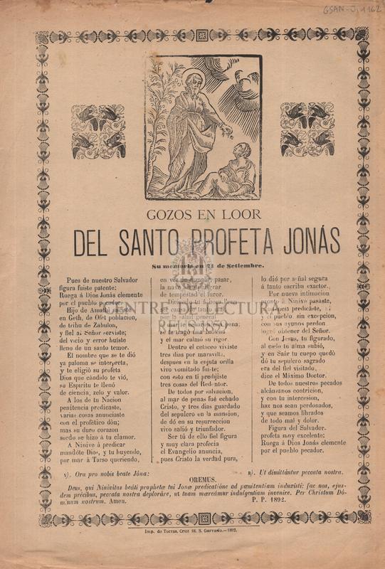 Gozos en loor del santo profeta Jonás, Su memoria en 21 de Setiembre