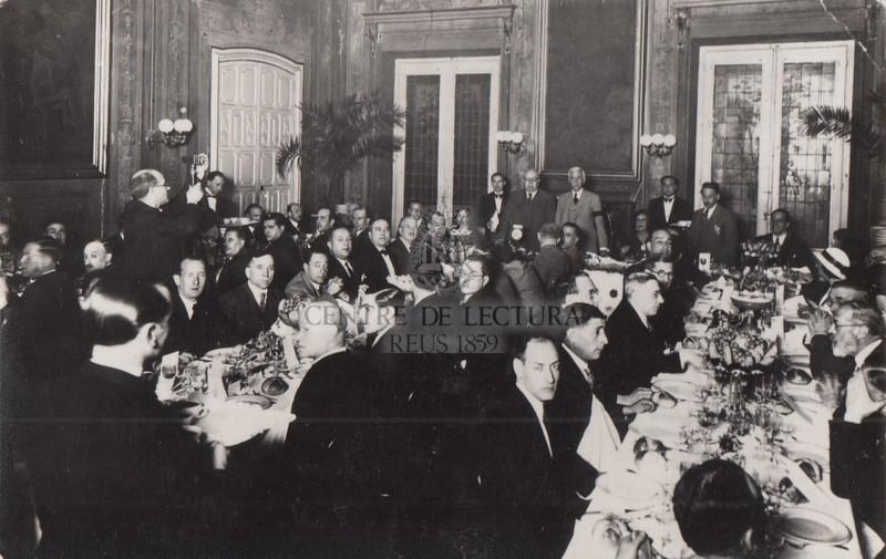Dinar a l'Hotel de Londres de Manuel Azaña i del president Macià