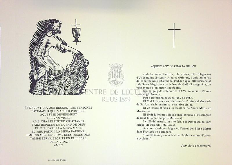 Goigs a llaor de Sant Joan Baptista la relíquia del seu braç es venera al monestir de Sant Joan de Jerusalem a la ciutat de Barcelona