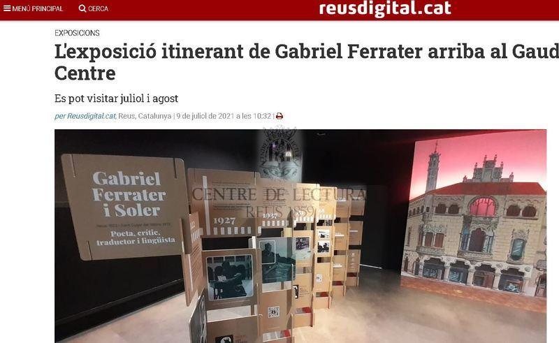 L'exposició itinerant de Gabriel Ferrater arriba al Gaudí Centre