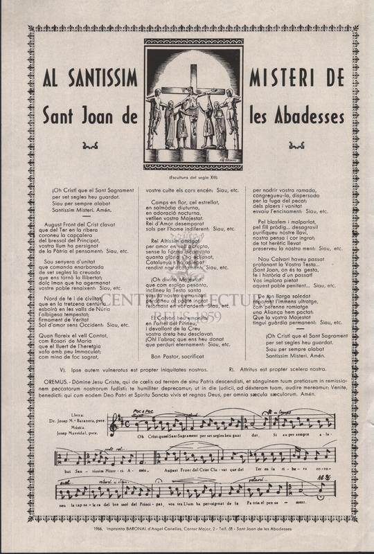 Al Santissim Misteri de Sant Joan de les Abadesses