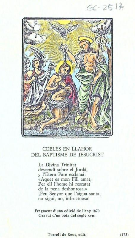 Cobles en llahor del baptisme de Jesucrist