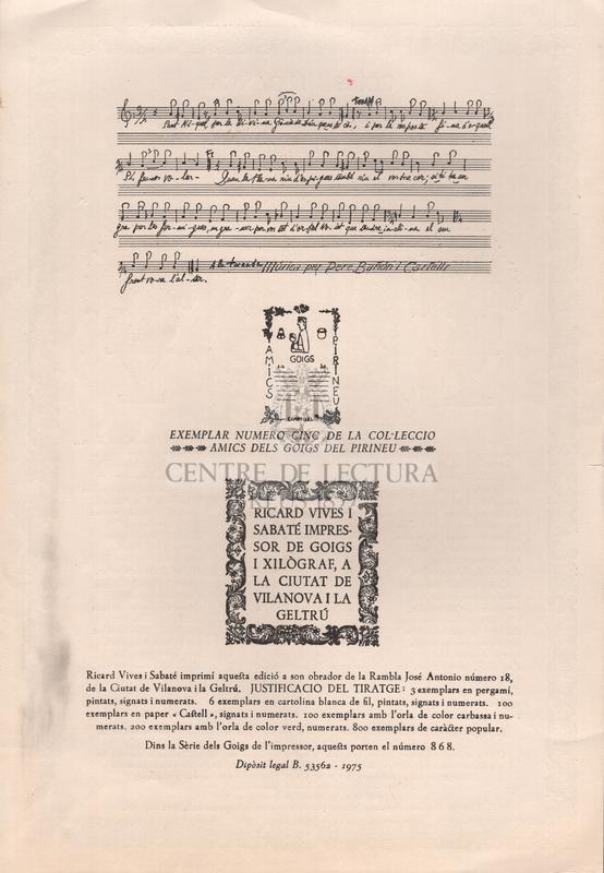 Goigs en lloança de Sant Miquel dels Sants serafi d'Osona