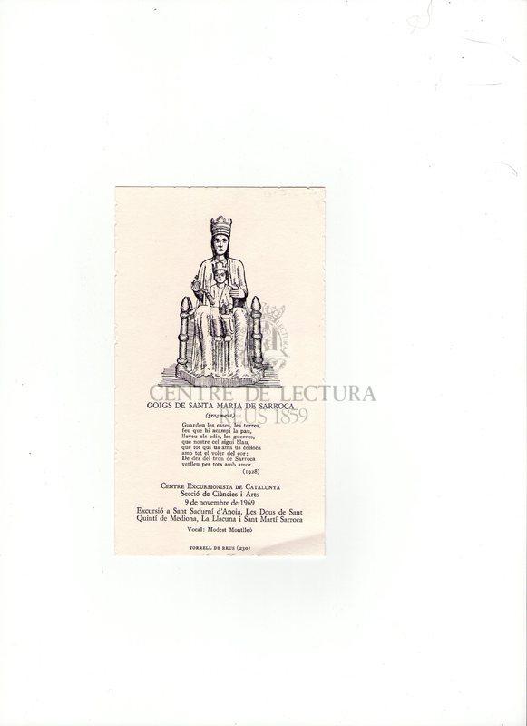 Goigs de Santa Maria de Sarroca
