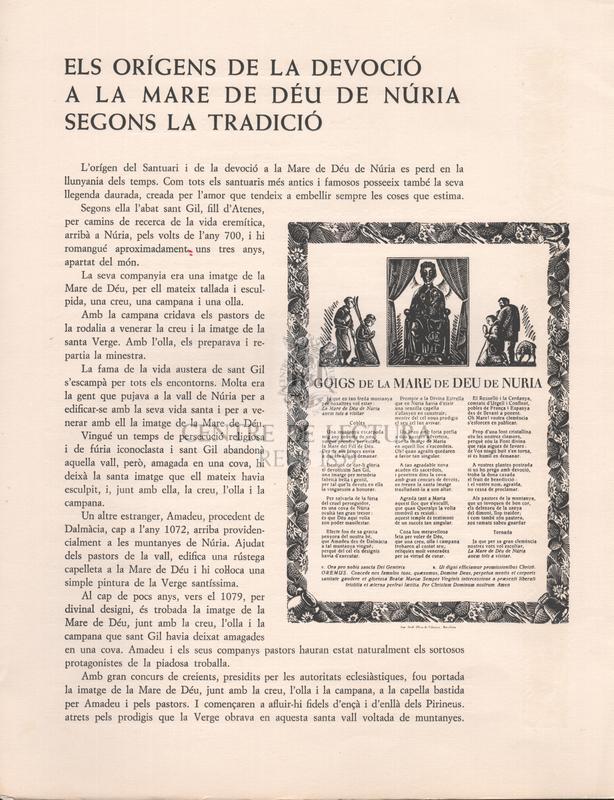 Festes de la Coronació Canònica de la Mare de Déu de Núria