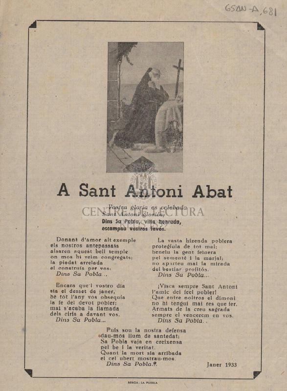 A Sant Antoni Abat.