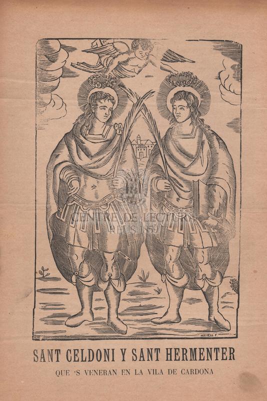 Goigs dels gloriosos sants martirs Celdoni y Hermenter dels quals se veneran las relíquias en la vila de Cardona