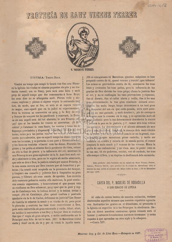 Profecía de Sant Vicens Ferrer.
