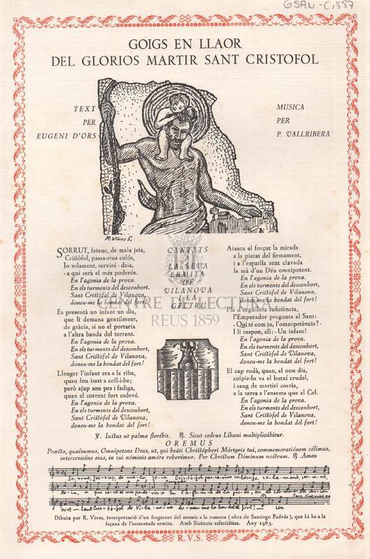 Goigs en llaor del gloriós martir Sant Cristòfol