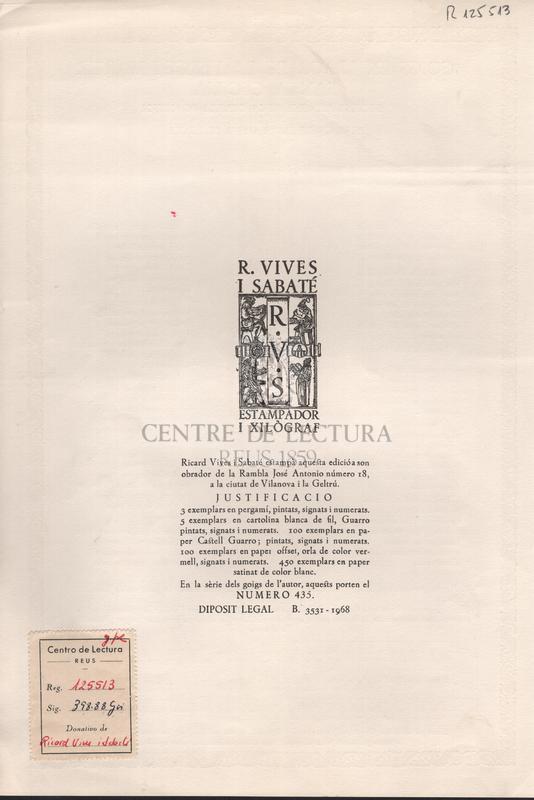 Goigs en llaor de la verge i martir Santa Cecilia excelsa patrona de la capella de musica de la basilica de Santa Maria de Ripoll.