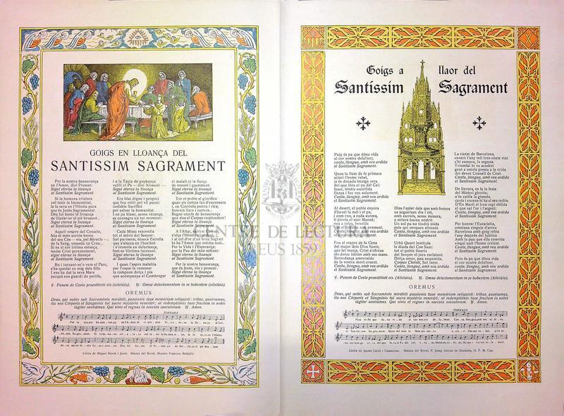 Goigs al Santíssim Sagrament commemoratiu del XXXV Congrés Eucarístic Internacional