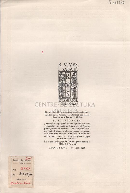 Goigs en llaor de la Verge i Martir Santa Cecilia excelsa patrona de l'Orfeo Vigata de la ciutat de Vic.