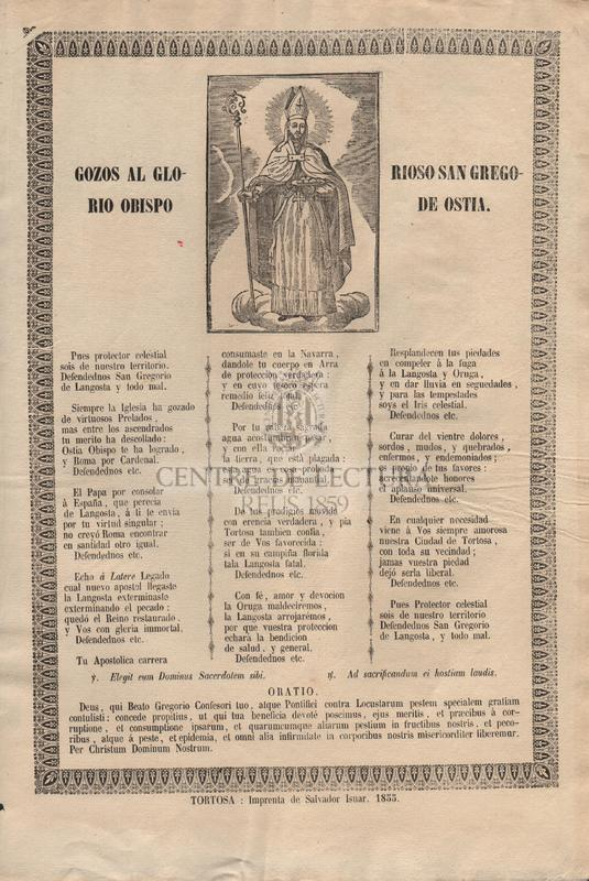 Gozos al glorioso San Gregorio Obispo de Ostia