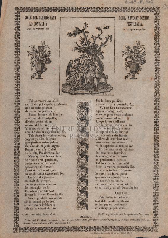 Goigs del gloriós Sant Roch, advocat contra lo contagi y pestilencia, que se venera en sa propia capella