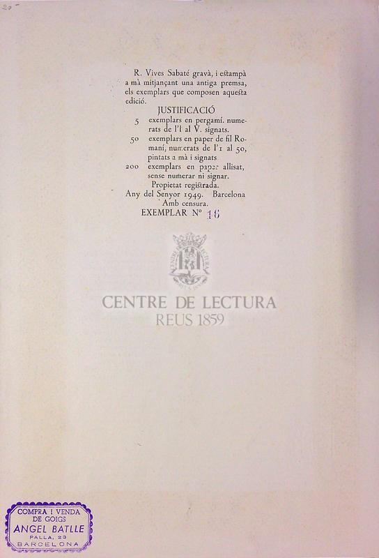 Goigs en llaor de Santa Anna. Que es venera en son Temple de la Ciutat de Barcelona