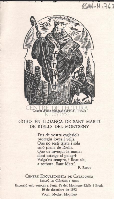 Goigs en lloança de Sant Martí de Riells del Montseny