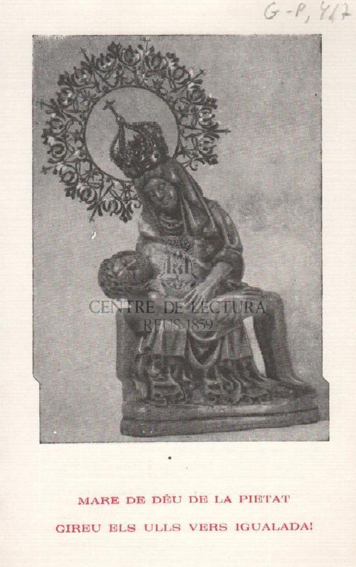 Pregaria igualadina a la Mare de Déu de la Pietat.