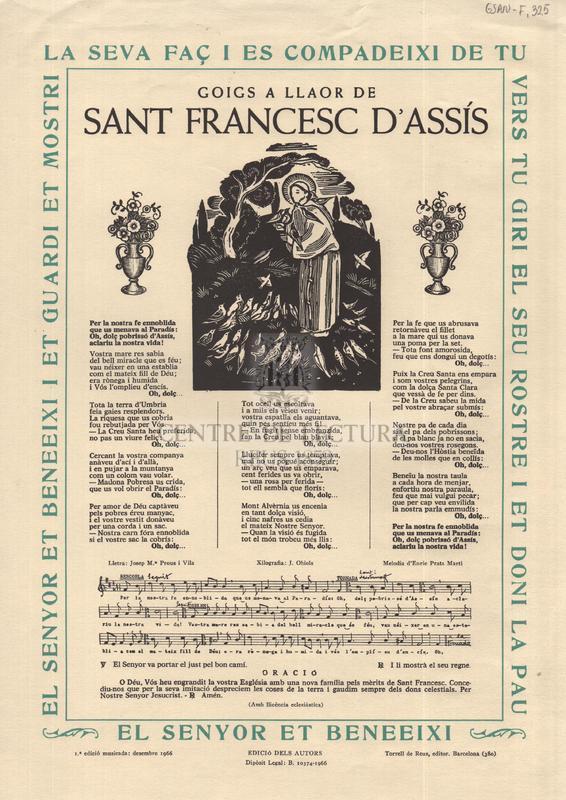 Goigs a llaor de Sant Francesc d'Assís