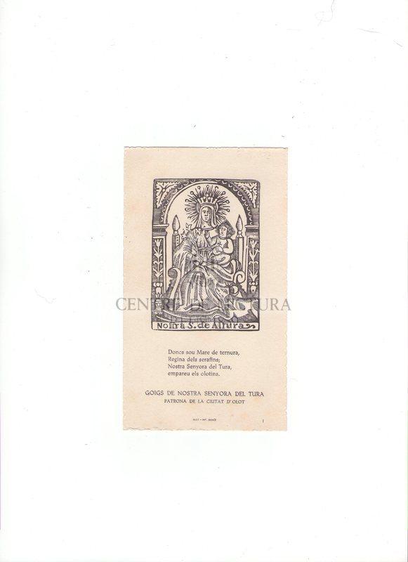 Goigs de Nostra Senyora del Tura patrona de la ciutat d'Olot