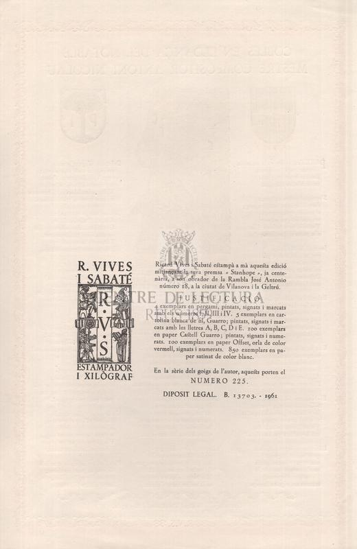 Cobles en lloança del notable mestre compositor Antoni Nicolau