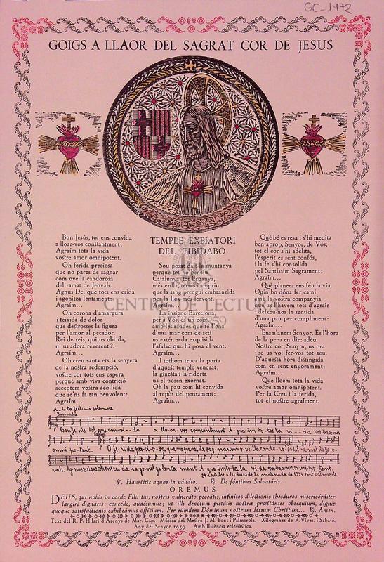 Goigs a llaor del Sagrat Cor de Jesús temple expiatori del Tibidabo