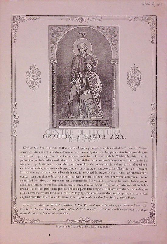 Oracion á Santa Ana