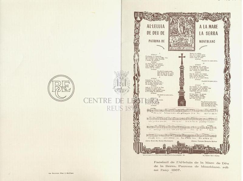 Al·leluia a la Mare de Déu de la Serra Patrona de Montblanc