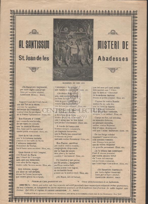Al Santíssim Misteri de St. Joan de les Abadesses.