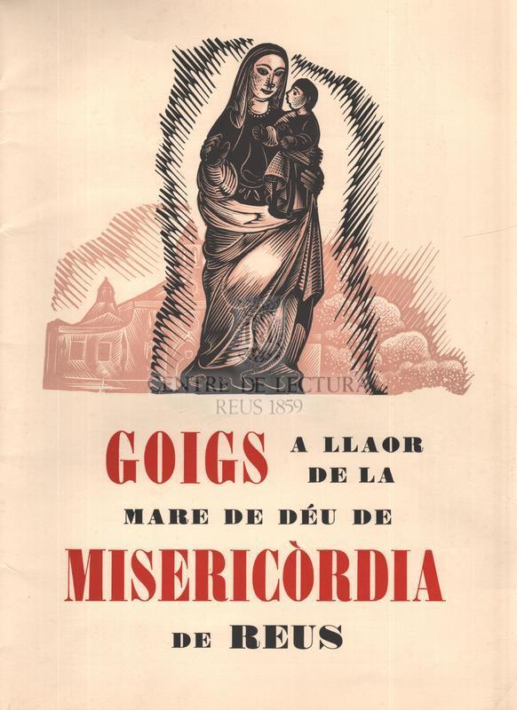Goigs a llaor de la Mare de Déu de Misericòrdia de Reus