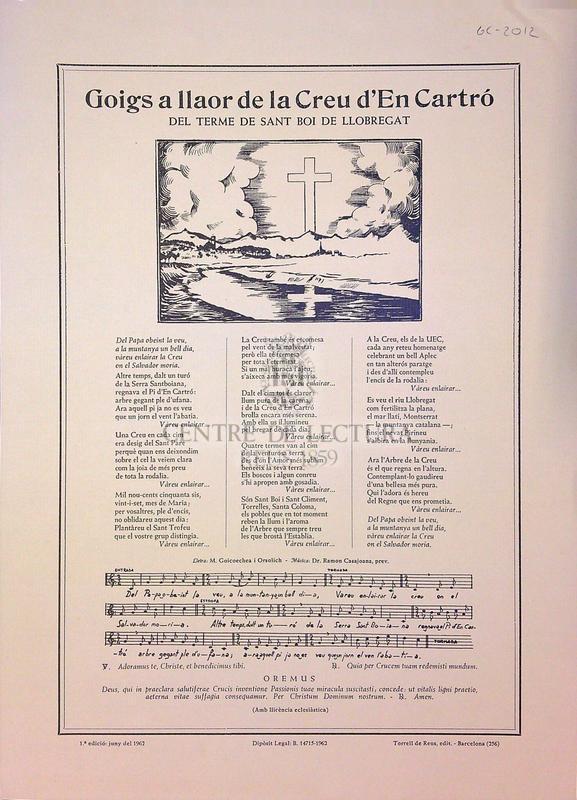Goigs a llaor de la Creu d'En Cartró del terme de Sant Boi de Llobregat