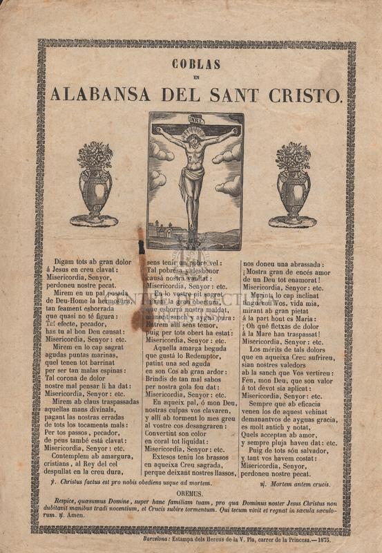 Coblas en alabansa del Sant Cristo