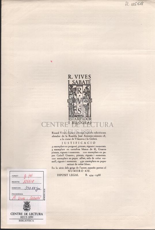 Goigs en llaor de la Verge i Martir Santa Cecilia excelsa patrona de la capella parroquial de Santa Maria de Sallent.