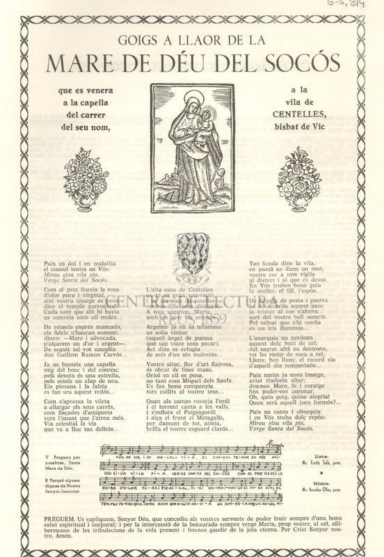 Goigs a llaor de la Mare de Déu del Socós