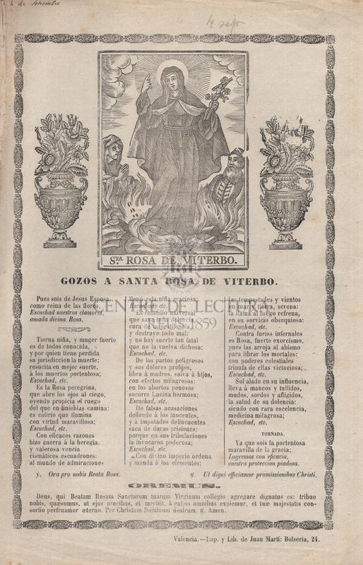 Gozos a santa Rosa de Viterbo