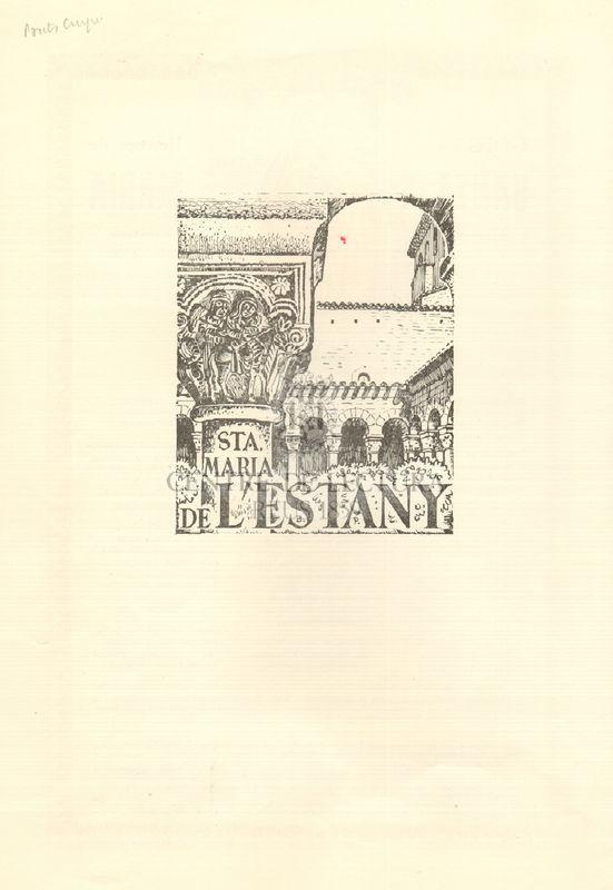 Goigs a lloança de Santa Maria que es venera a la parròquia de l'Estany Bisbat de Vic