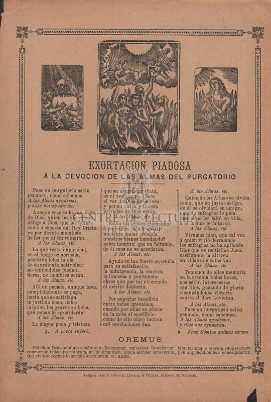 Exhortacion piadosa á la devocion de las almas del purgatorio