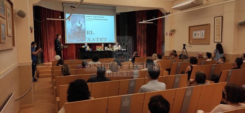 """Presentació del llibre """"El Xatet. Josep M. Sans Ciurana, el mític corredor reusenc"""" de Josep Marsal Sans"""