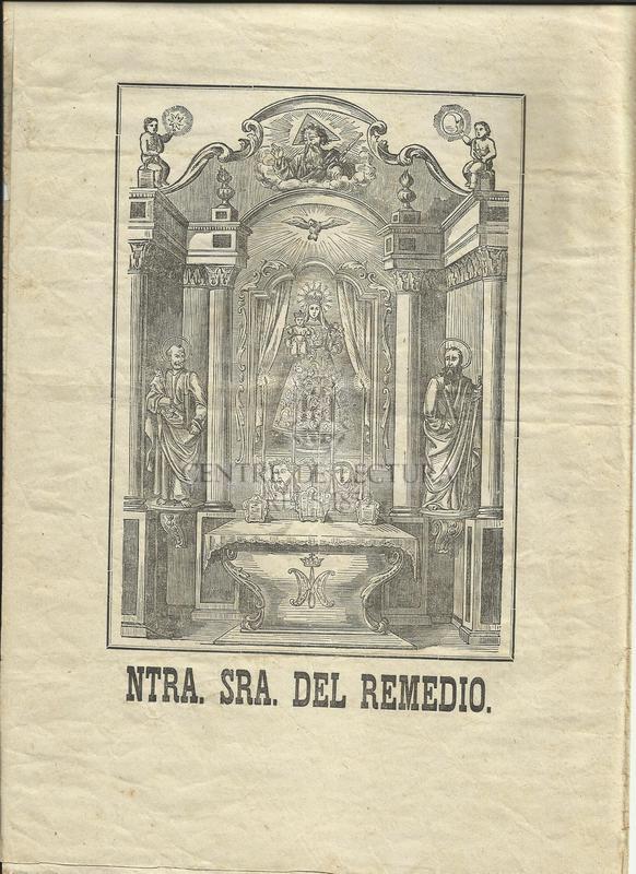 Gozos de Nuestra Señora del Remedio que se cantan en su capilla contigua á la villa de Caldes de Mombuy