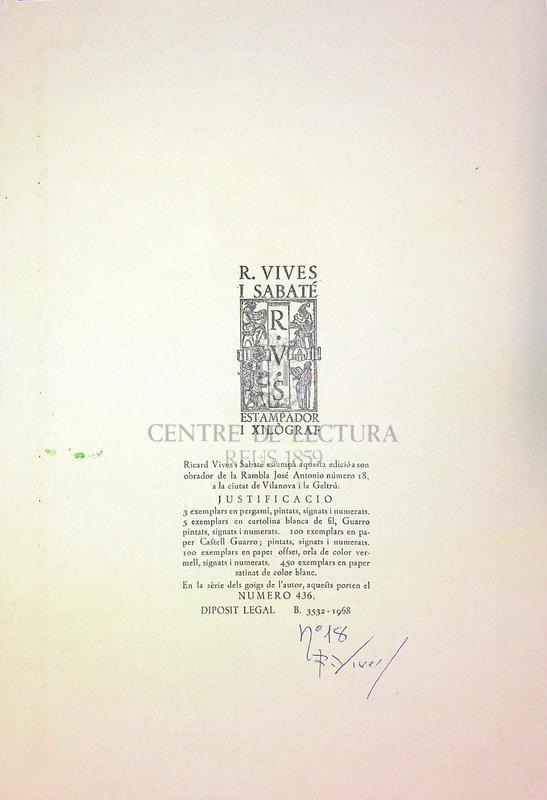 Goigs en llaor de la verge i martir Santa Cecilia excelsa patrona de l'Orfeo vigata de la ciutat de Vic
