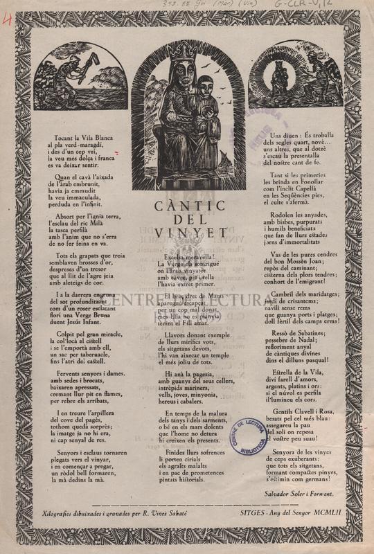 Càntic del Vinyet.